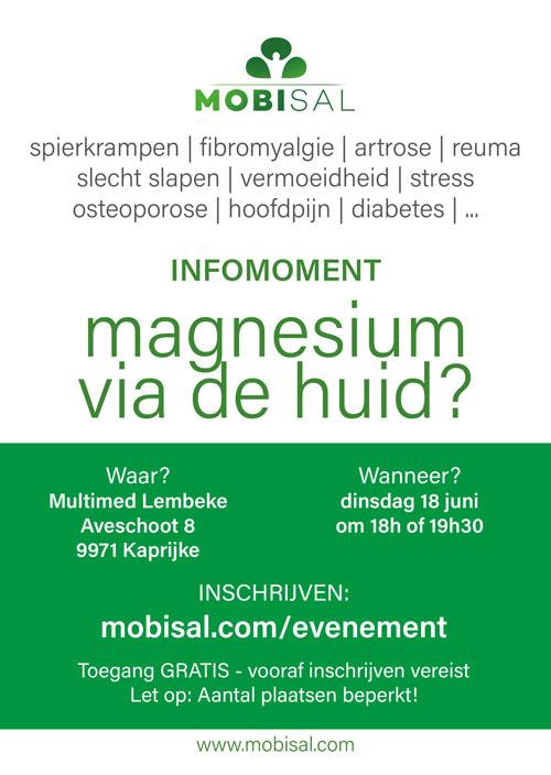 Infomoment | Magnesium via de huid